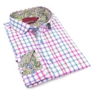 Elie Balleh Men's Milano Italy 2016-style Cotton Slim-fit Shirt