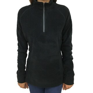 Narragansett Traders Women's Black 1/4-zip Lightweight Fleece Pullover Jacket