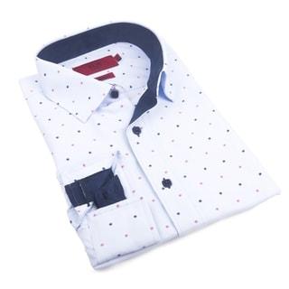 Elie Balleh Milano Italy Men's Multicolored Cotton Slim-fit Shirt