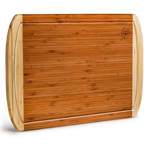 Large Cutting Board, Kitchen Chopping Board, with Juice Grooves.