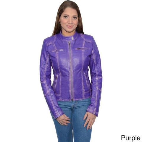 Women's Scuba-style Moto Jacket