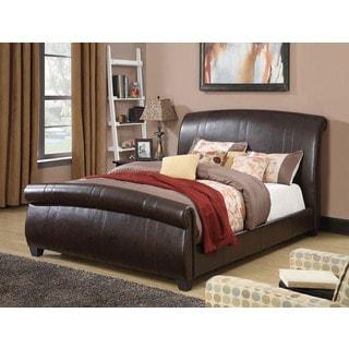 Hammett Sleigh Upholstered Bed, Espresso PU