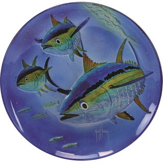 Rivers Edge Guy Harvey Glass 15-inch Yellow Fin Tuna Platter