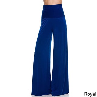 JED Women's Solid High-waist Wide-leg Super Stretch Palazzo Pants (4 options available)