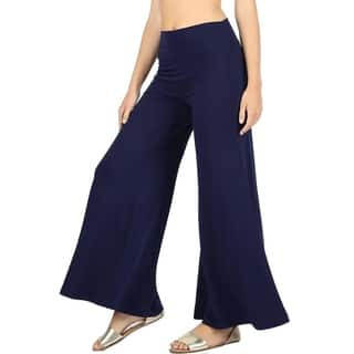 JED Women's Solid High-waist Wide-leg Super Stretch Palazzo Pants|https://ak1.ostkcdn.com/images/products/12650847/P19439796.jpg?impolicy=medium