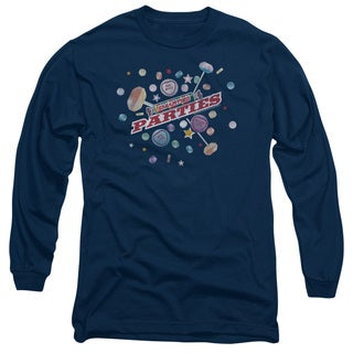 Smarties/Parties Long Sleeve Adult T-Shirt 18/1 in Navy