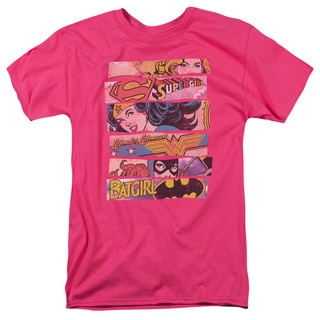DC/Three Of A Kind Short Sleeve Adult T-Shirt 18/1 in Hot Pink