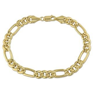 Men's Figaro Bracelet in 10k Yellow Gold by Miadora