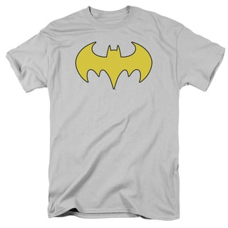DC/Bat Girl Logo Short Sleeve Adult T-Shirt 18/1 in Silver