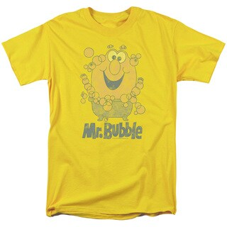 Mr Bubble/Classy Classic Short Sleeve Adult T-Shirt 18/1 in Yellow