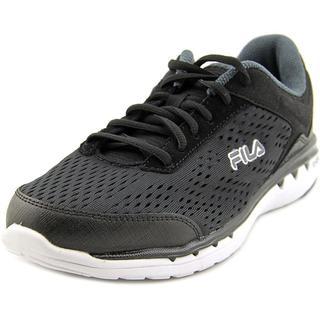 Fila Women's 'Octave Energized' Black Mesh Athletic Shoes