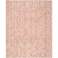 Safavieh Handmade Modern Abstract Beige / Rust Wool Rug - 8' x 10'