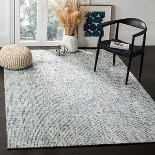 Safavieh Handmade Modern Abstract Blue / Charcoal Wool Rug (8' x 10')