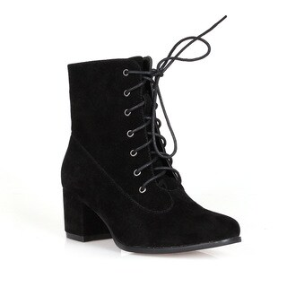 Fahrenheit Lida-05 Lace-up Women's High Heel Booties