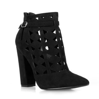 Hotsoles Snail Laser Cut High Heel Booties