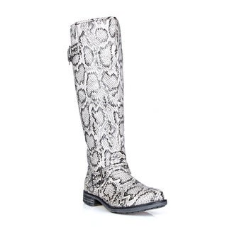 Mark and Maddux Travis-01 Side Buckeled Women's Knee High Boots