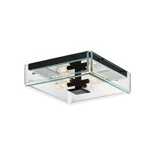 Sonneman Lighting Mercer Street Satin Black Surface Mount