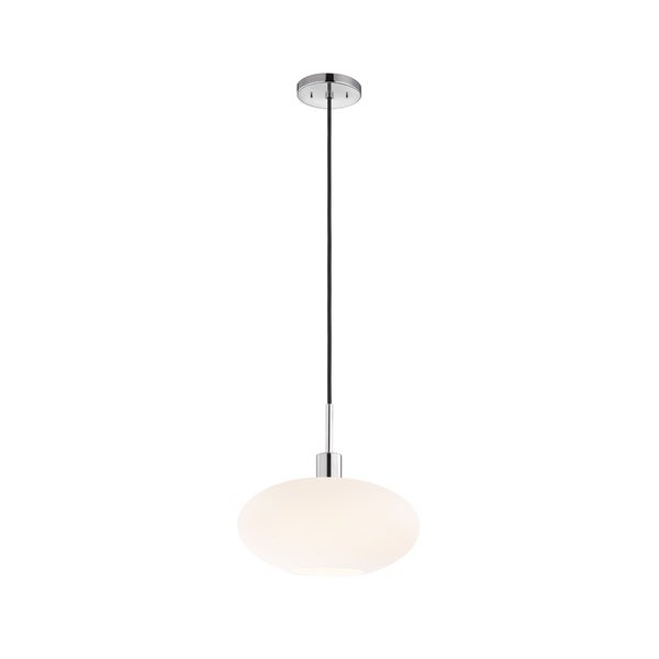 Sonneman Lighting Glass Pendants - Polished Chrome Grand Oval Pendant