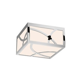 Sonneman Lighting Haiku Polished Nickel 8-inch Square LED Flush Mount