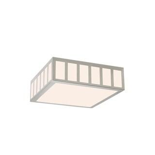 Sonneman Lighting Capital Satin Nickel 15-inch Square LED Flush Mount
