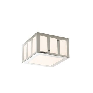 Sonneman Lighting Capital Polished Nickel 8-inch Square LED Flush Mount