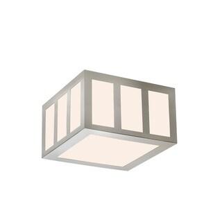 Sonneman Lighting Capital Satin Nickel 8-inch Square LED Flush Mount