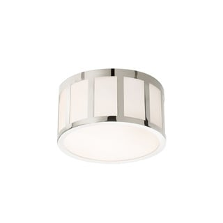 Sonneman Lighting Capital Polished Nickel 9-inch Round LED Flush Mount