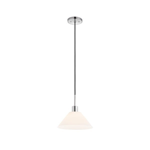 Sonneman Lighting Glass Pendants - Polished Chrome Cone Pendant