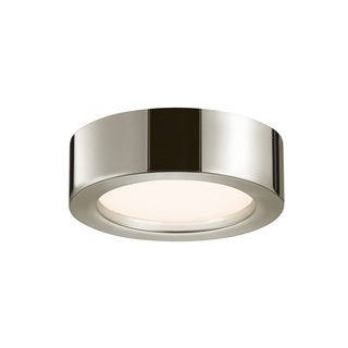 Sonneman Lighting Puck Slim Polished Nickel 8-inch LED Flush Mount