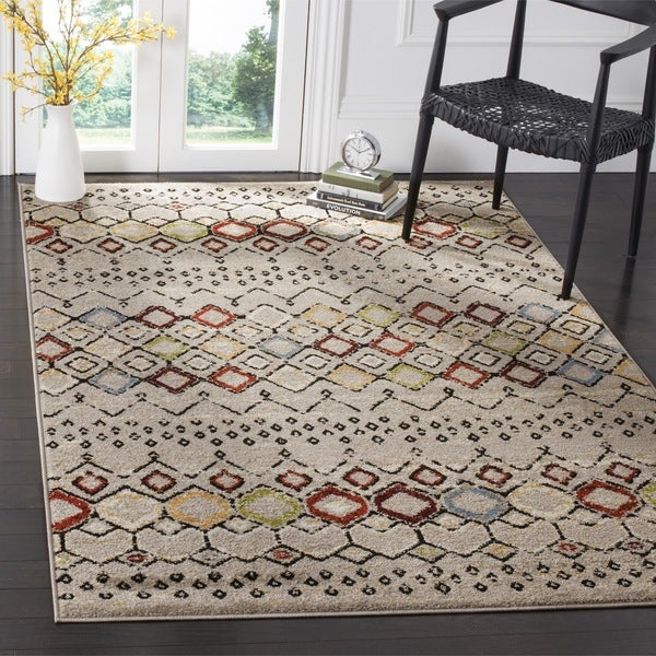 Safavieh Amsterdam Bohemian Light Grey Multicolored Rug 8 10 X27