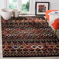 "Safavieh Amsterdam Bohemian Black / Multicolored Rug - 6'7"" x 9'2"""