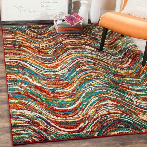 Safavieh Aruba Modern Abstract Multicolored Rug - 7' x 10'