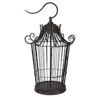 Black Metal 60-watt Birdcage Table Lamp