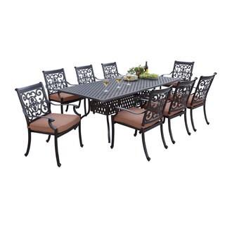 darlee stcruz antique bronze cast aluminum rectangular 9piece dining set