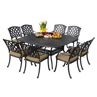 darlee ocean view antique bronze cast aluminum square 9piece dining set