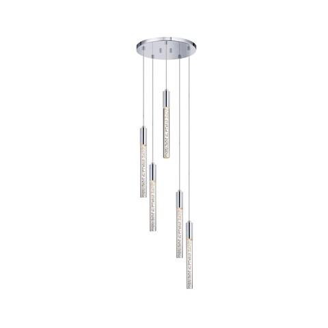 Sonneman Lighting Champagne Wands 5-light Polished Chrome LED Pendant