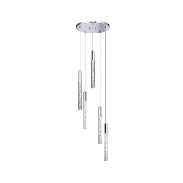 Sonneman Lighting Champagne Wands 5-light Polished Chrome LED Pendant