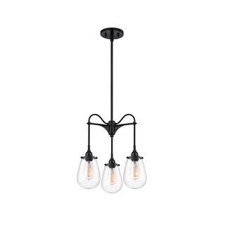 Sonneman Lighting Chelsea 3 Arm Satin Black Pendant