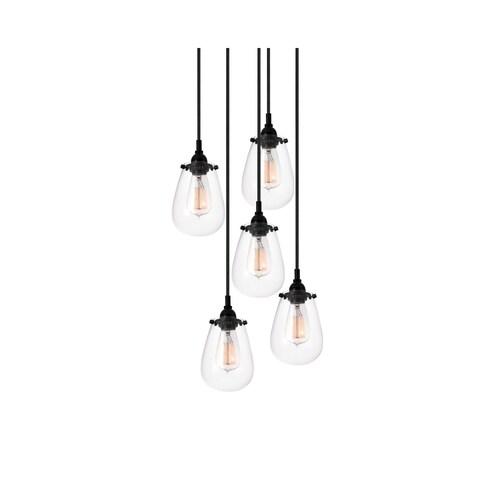 Sonneman Lighting Chelsea 5-light Satin Black Pendant