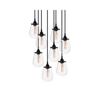 Sonneman Lighting Chelsea 8-light Satin Black Pendant