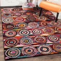 Safavieh Aruba Abstract Multi-colored Rug - RED - 8' x 10'