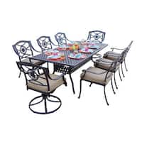 Darlee Ten Star Bronze Cast Aluminum 9-piece Rectangular Dining Set