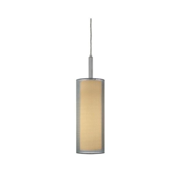 Sonneman Lighting Puri Satin Nickel 5-inch Pendant - Silver