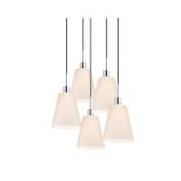 Sonneman Lighting Glass Pendants - 5-light Polished Chrome Tall Cone Pendant