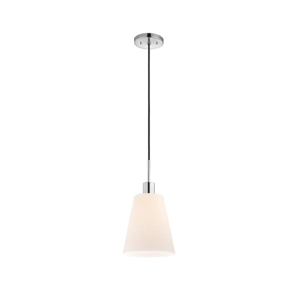 Sonneman Lighting Glass Pendants - Polished Chrome Tall Cone Pendant