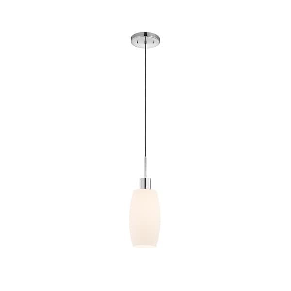 Sonneman Lighting Glass Pendants - Polished Chrome Barrel Pendant