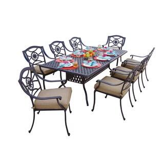 Darlee Ten Star Antique Bronze Cast Aluminum Rectangular 9-piece Dining Set
