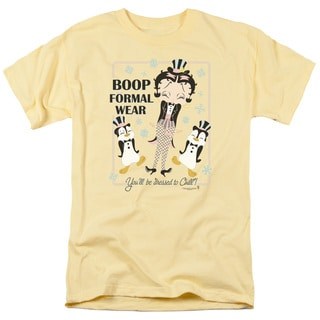 Boop/Dressed To Chill Short Sleeve Adult T-Shirt 18/1 in Banana