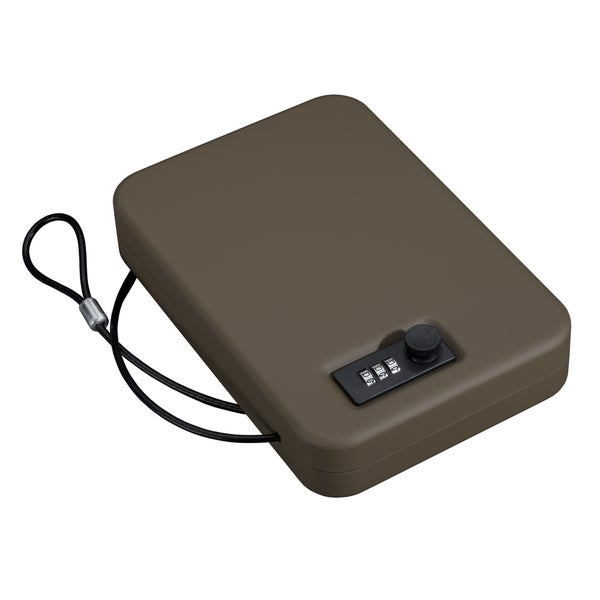 Stack-On Brown Stainless Steel Portable Case with Combination Lock