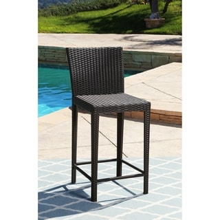 Abbyson Living Ballard Brown Wicker Bar Stool